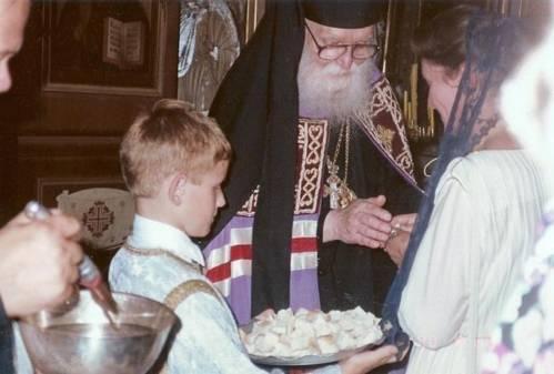 Епископ Иоанн во время своей архиерейской хиротонии