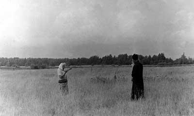 Место б. деревни Дуплино Мышкинского уезда Ярославской губ., где родился о.Косма. Фото 1989 г.