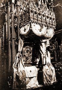 Тихвинская икона Божией Матери. Фото 1910-х гг.